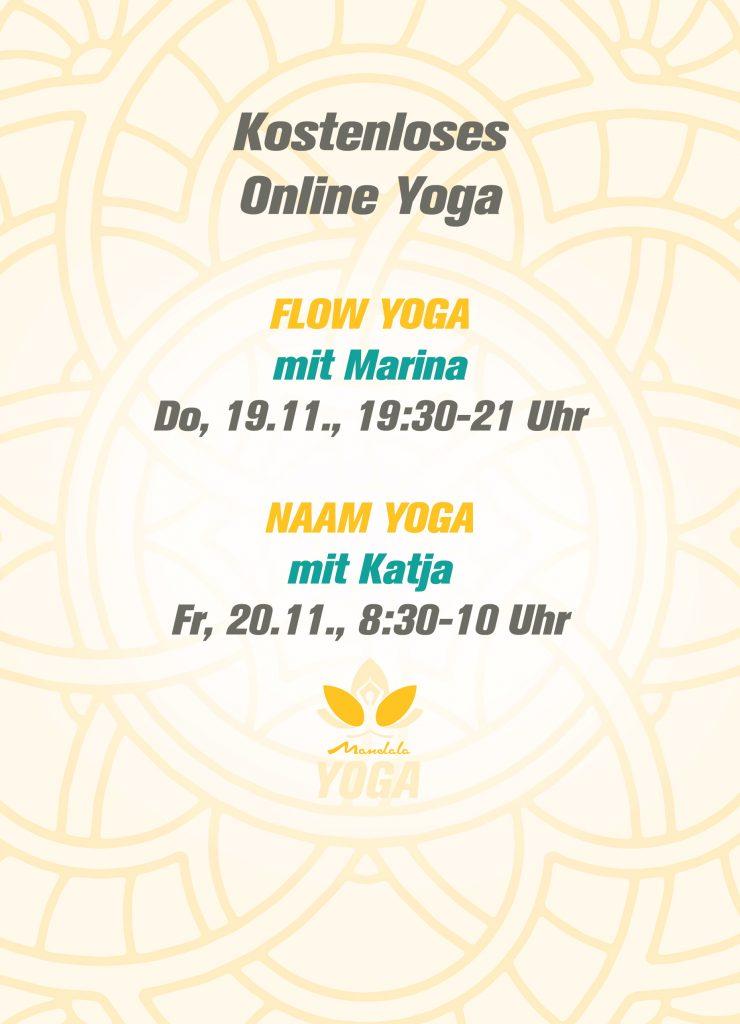 Online Yoga Flyer